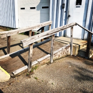 Old Accessibility Ramp Before Renovation